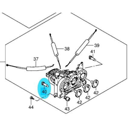 Suzuki Ignis fűtés szabályzó világítás izzó, piros74531
