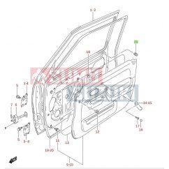 Suzuki Jimny ajtó ütközőgumi 82711-56B00-E