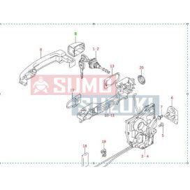 Suzuki Swift kilincs zárókupak (piros) S-82813-63J00-ZCK-E
