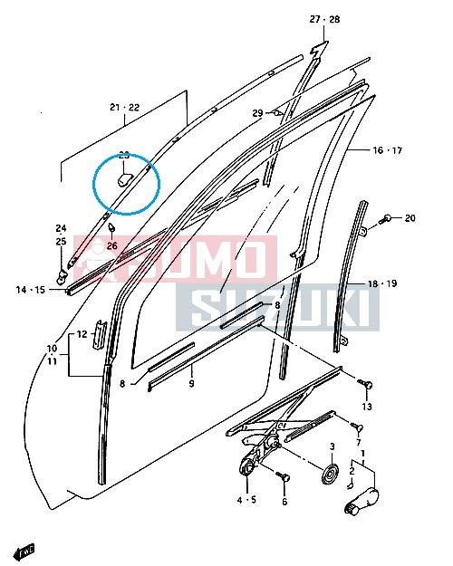 Suzuki Swift 1990-2003 légterelö kapocs patent ablakra