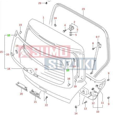 Suzuki Swift, SX4, S-Cross, Vitara, WagoR+ hátső szélvédő szivacs 84513-76F00