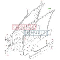 Suzuki Swift tömítőgumi bal első ajtón 84651-80E00-SSE