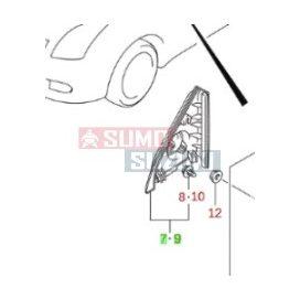 Suzuki Swift 2005-2007 belső burkolat jobb 84750-62J00-5PK-E