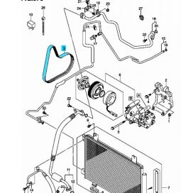 Suzuki SX4 1,6 diesel generátor + klíma szíj - Gates 95141-69KA0